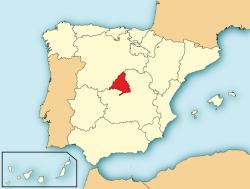 Resultat d'imatges de madrid mapa