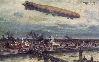 Resultat d'imatges de paris bombardeada por zepelines alemanes