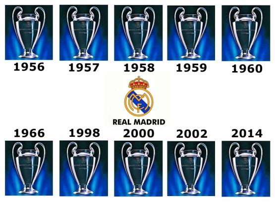Resultado de imagen de tretze copas de europa madrid